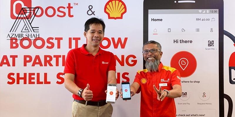 kerjasama boost dan shell, shell ewallet, pembayaran ewallet di shell