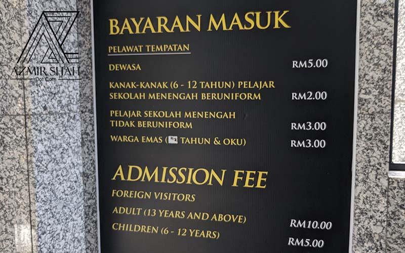 tempat percutian di kuala lumpur, cuti-cuti malaysia,harga tiket muzium diraja, bayaran masuk muzium negara, bayaran masuk muzium diraja,