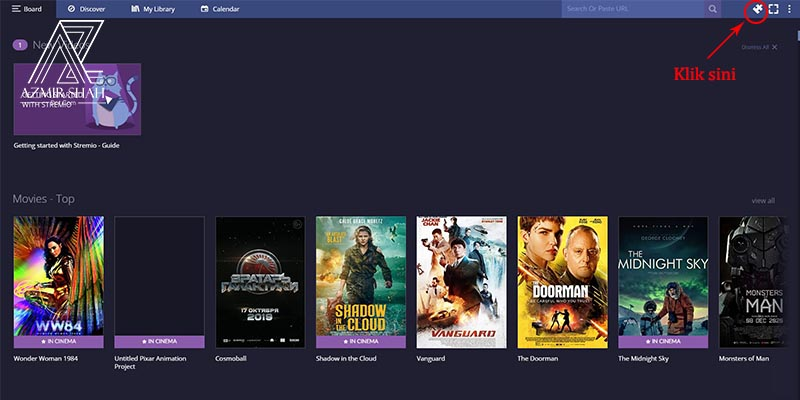 tonton movie online, stremio, homepage stremio, dashboard stremio, tengok movie baru, cara tengok movie online, download movie best