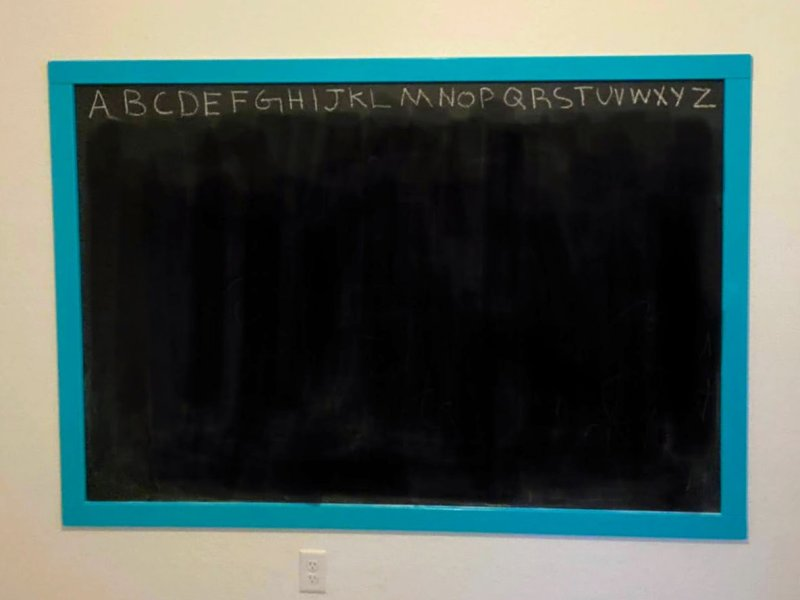 DIY Chalkboard Wall by AZ Mom Squad