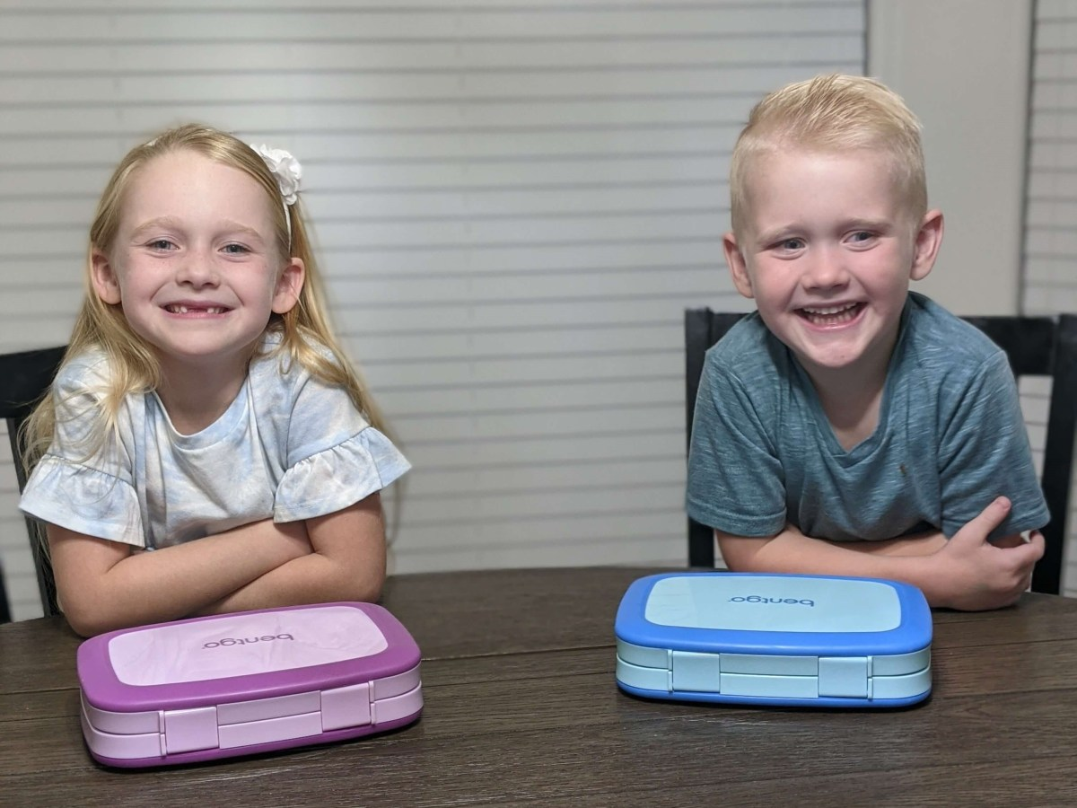 Girl and Boy with Bentgo Box
