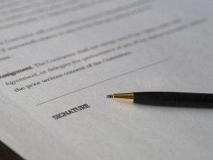 Pencil Signature Contract