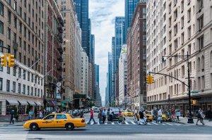 NYC street view.