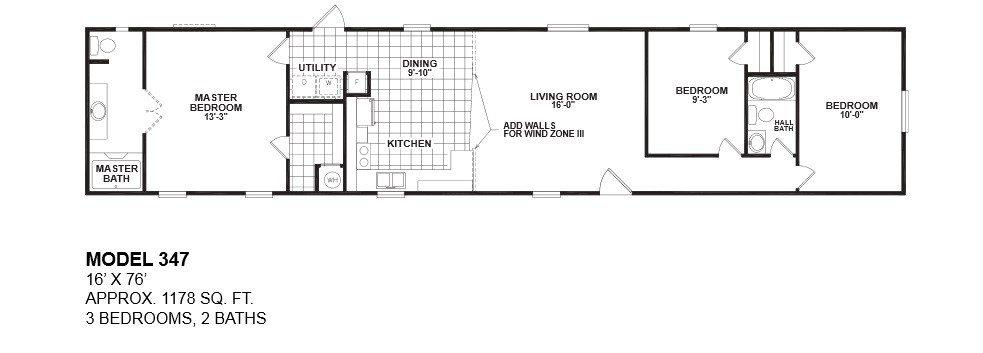 New 1997 Fleetwood Mobile Home Floor Plan