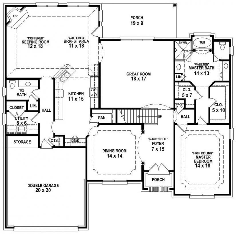 3 Bedroom 3 Bathroom House Plans Awesome 3 Bedroom 2