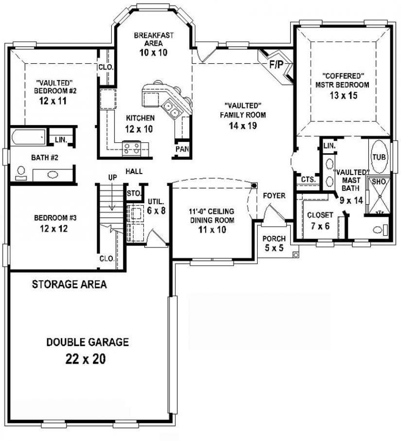 3 Bedroom 3 Bathroom House Plans Best Of 5 Bedroom 3
