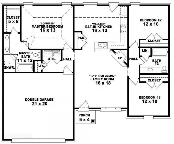 3 Bedroom House Plans One Story Best Of Best 25 E Level