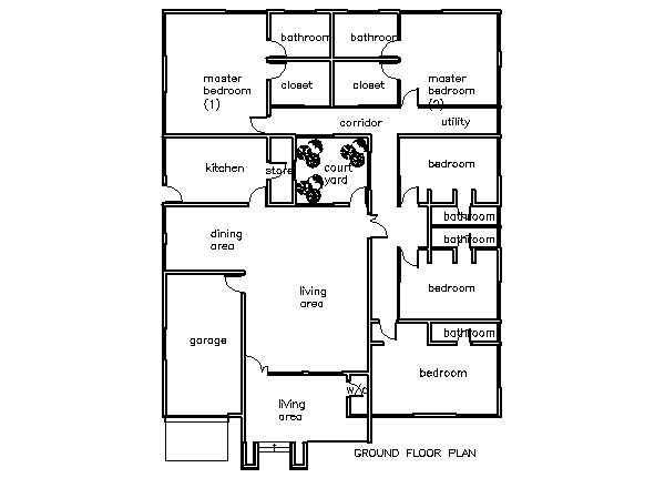 Unique 5-6 Bedroom House Plans