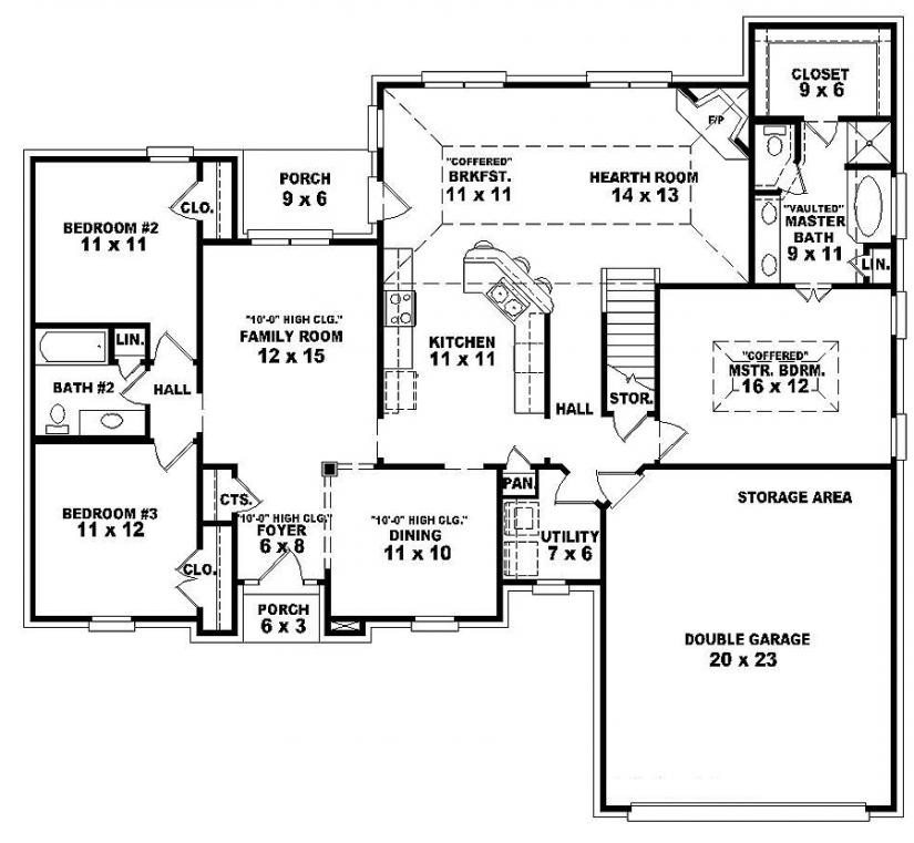 Luxury Single Story 5 Bedroom House Plans Novocom Top