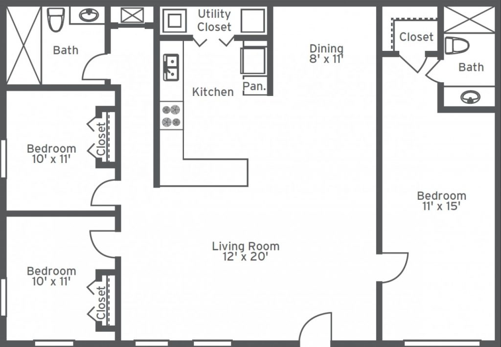 Best Of House Plans 3 Bedroom 1 Bathroom