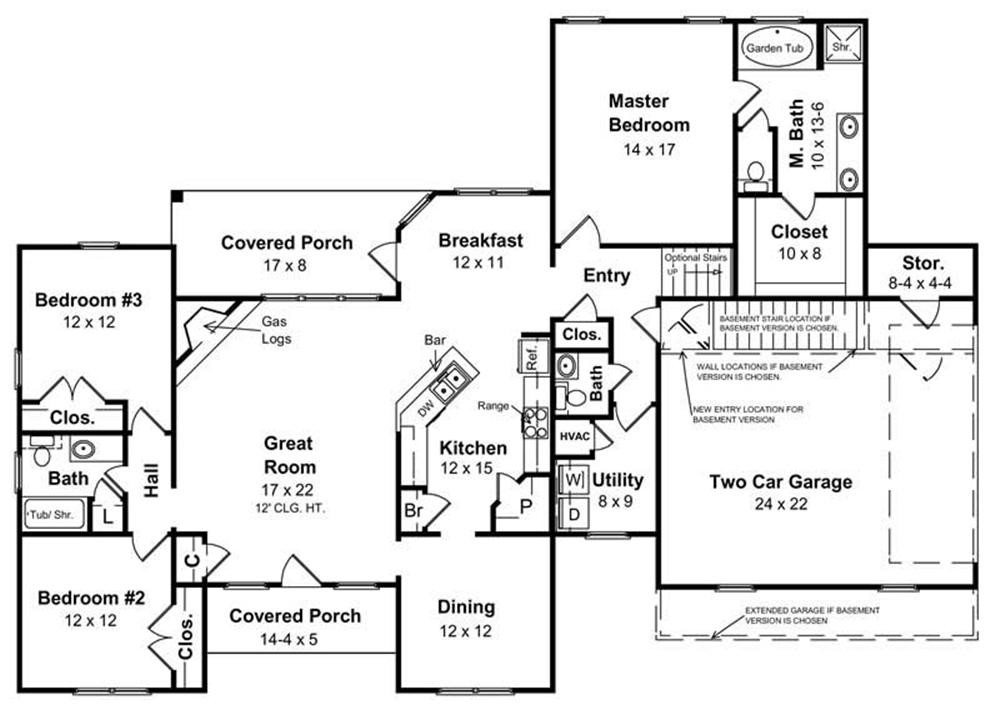 House Plans For A Ranch Style Home Inspirational Basement