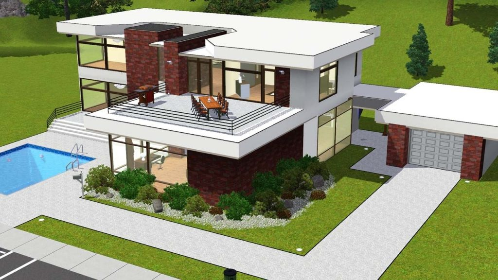 Awesome Modern House Plans Sims 3