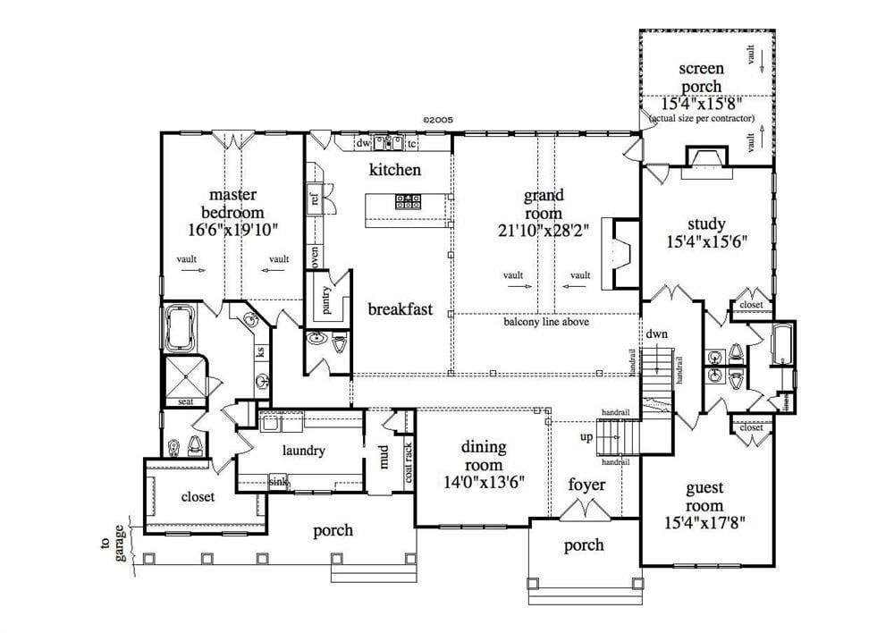 Beautiful Single Story With Basement House Plans