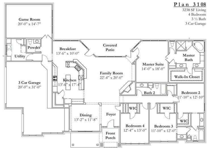 Elegant Texas Ranch House Floor Plans