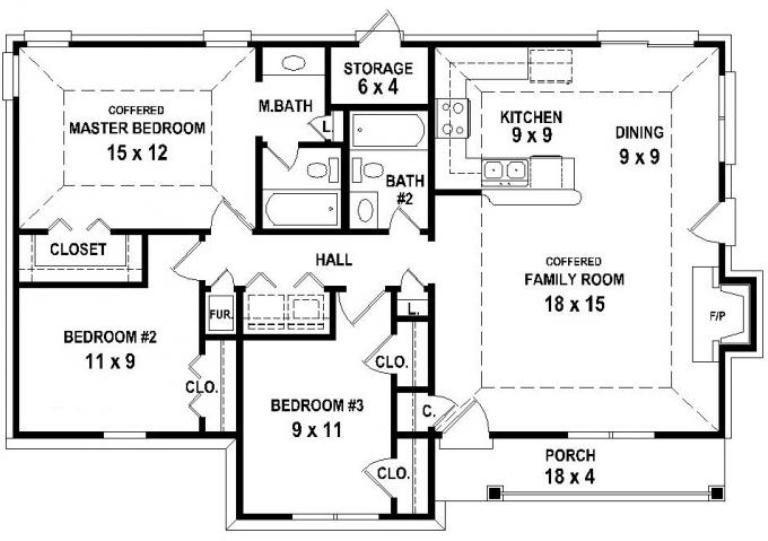 New Large 2 Bedroom House Plans