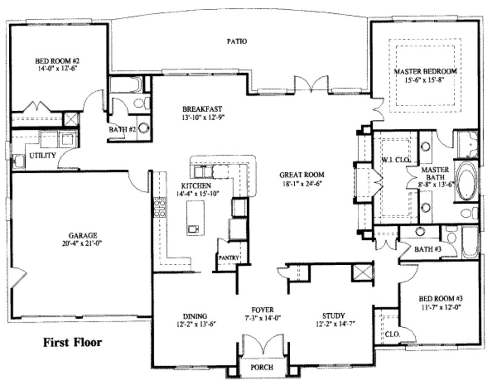 Beautiful One Story House Plans With Basement