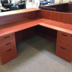 Home Office Desk Chairs Camping Folding Walmart New! Cherryman Amber Reception - Arizona Furniture