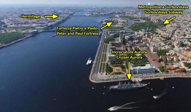 Incrociatore Aurora, costruito nei cantieri navali di San Pietroburgo fu varato l'11 maggio 1900. Partecipò alla prima guerra mondiale cioè prese parte alle operazioni militari nel mar Baltico