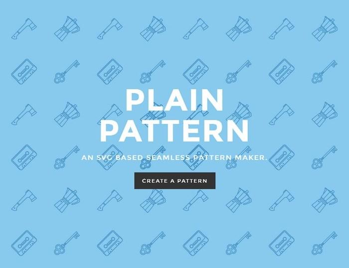 Plain Pattern – An SVG Based Seamless Pattern Maker
