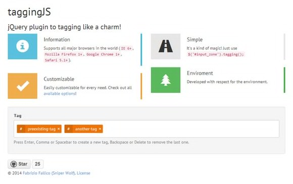 Highly Customizable Tagging System jQuery Plugin