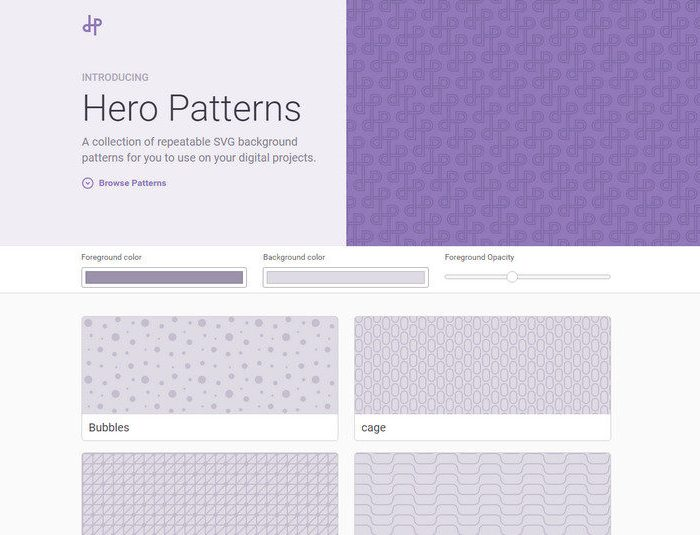 A Collection of Repeatable SVG Background Patterns