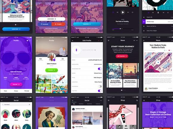 Avital – Free UI kit for mobile apps