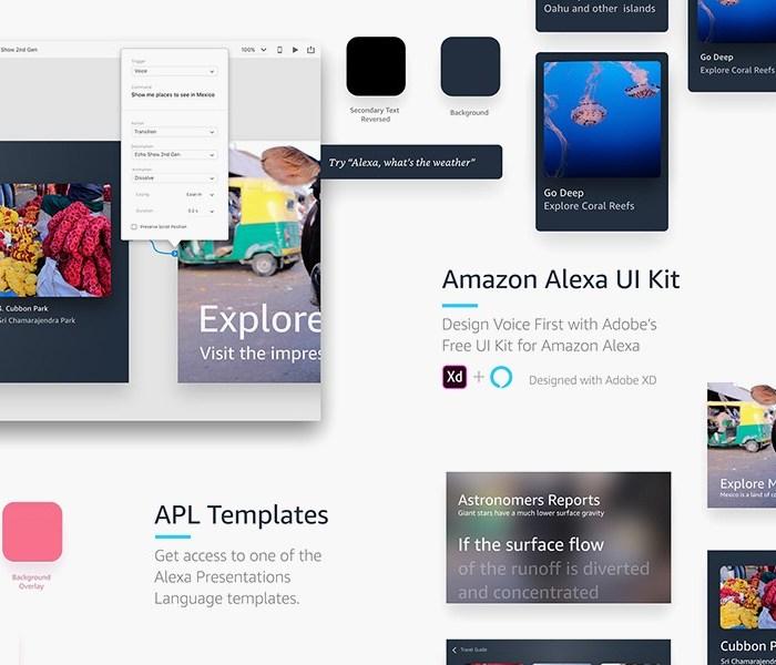 Amazon Alexa UI Kit For Adobe XD