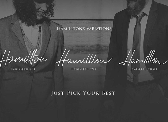 Hamillton Signature: Demo Font