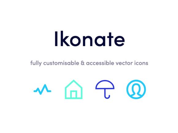 Ikonate: Free Set of 230+ SVG Icons