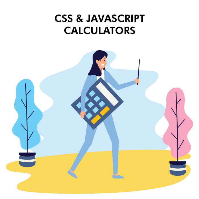 A Nice Collection of CSS & JavaScript Calculators