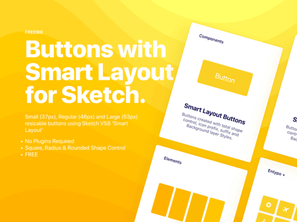 Smart layout-ready buttons for Sketch
