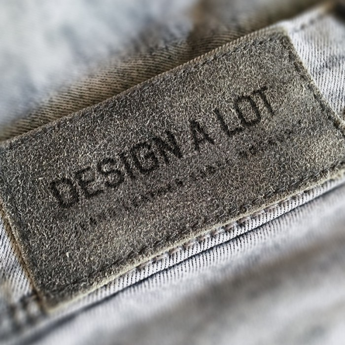 Jeans Label Free Mockup for Adobe Photoshop