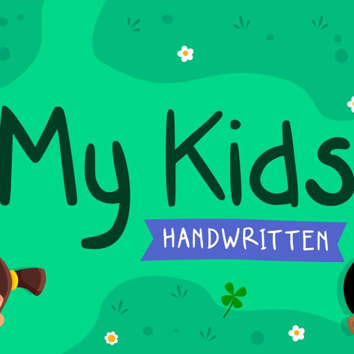 My Kids Handwritten Font