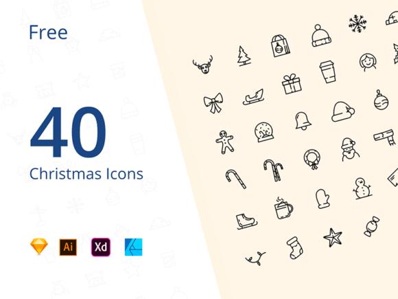 40 Free Christmas Icons