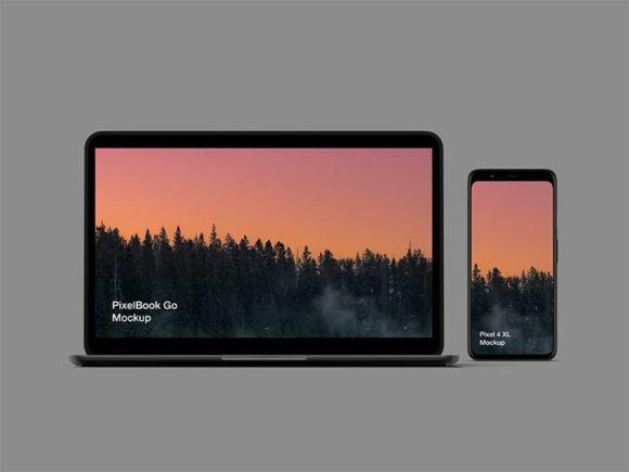 Pixel 4 and Pixelbook Go Mockups