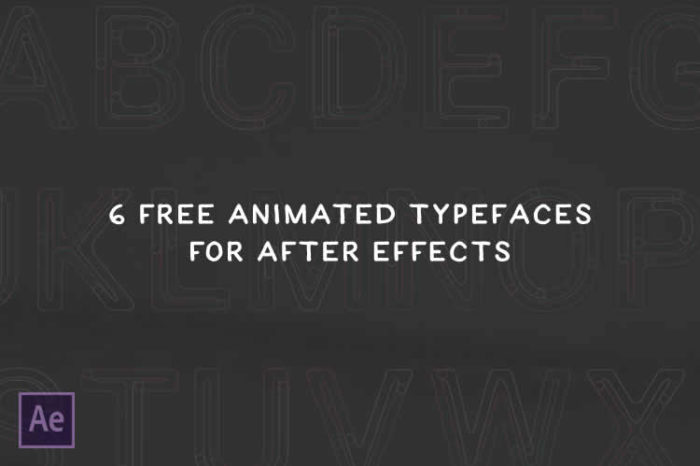 10 Free & Paid Animated Typefaces for Adobe After Effects