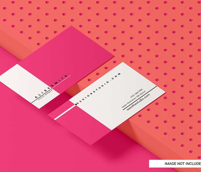 Business Card Mockup: Photoshop Freebie