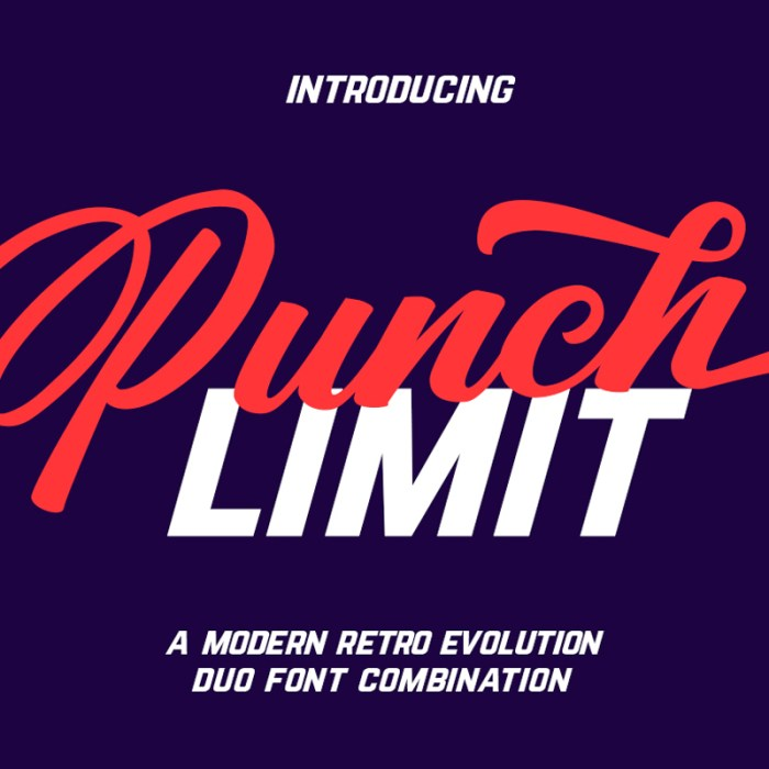 Free Punch Limit Font Combination