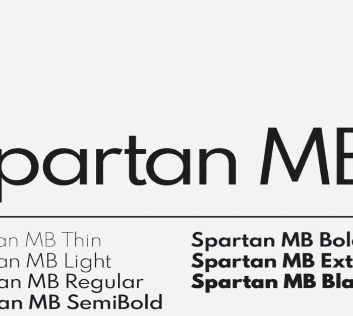 Spartan Typeface: Open Source Font Family