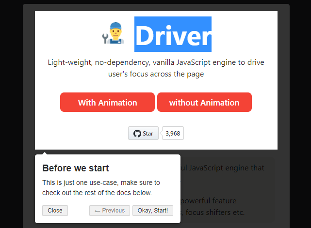Driver.js: Interactive Guide For Web App
