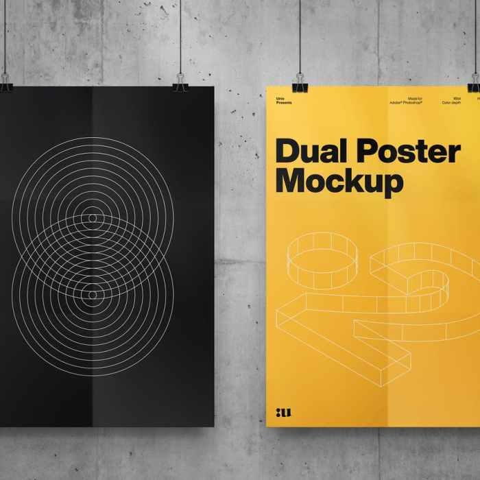 Free Dual Poster Mockup