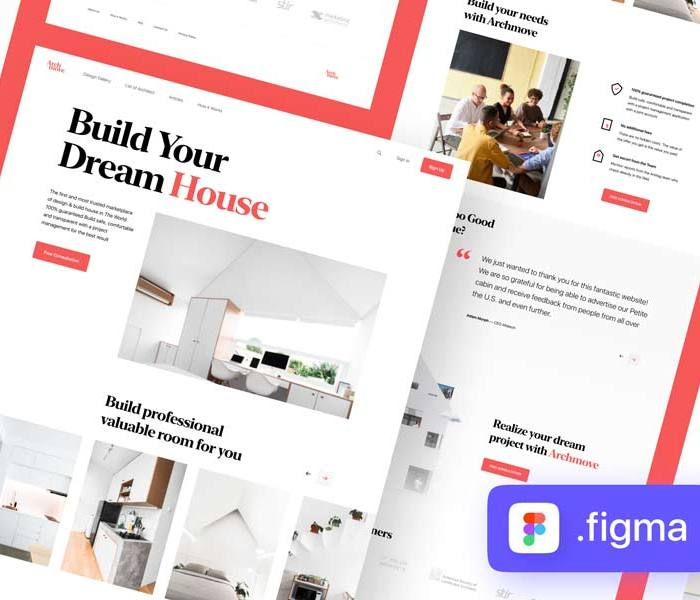 Archmove: Free Architecture Marketplace Landing Page