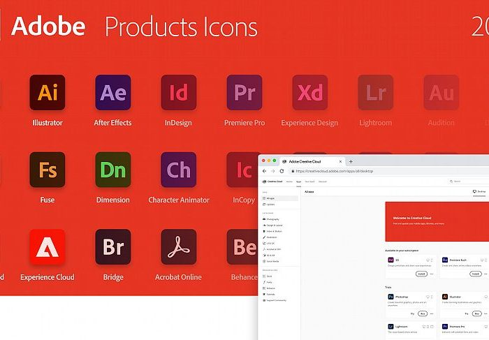 Adobe Tools Icons for Adobe XD Free