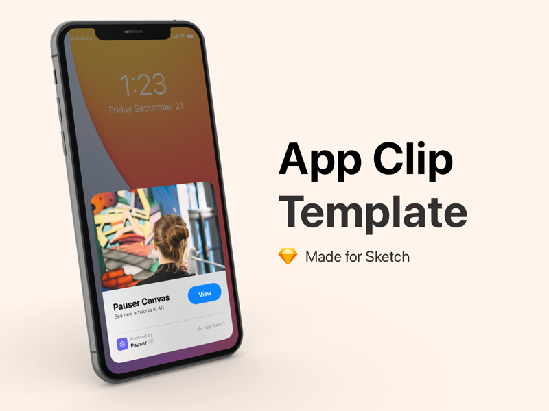 App Clip Template for Sketch