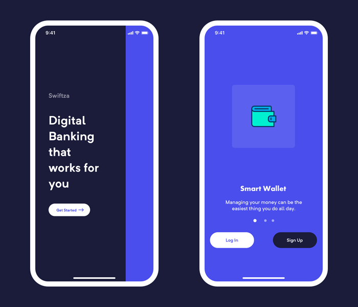 Onboarding Screens for Mobile Banking App