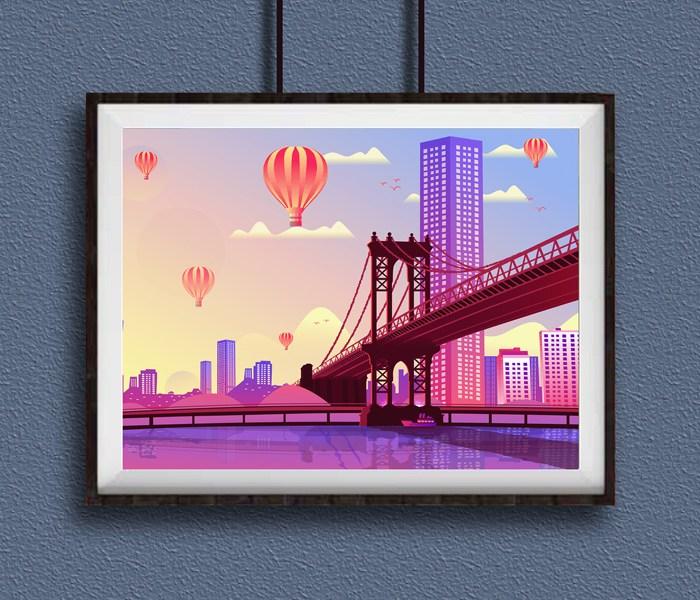 Photo Frame Mockup for Adobe Photoshop