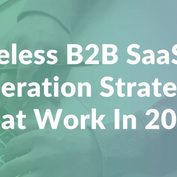 5 Amazing B2B SaaS Lead Generation Strategies 2020