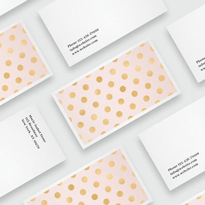 Free Golden Dots Card Template