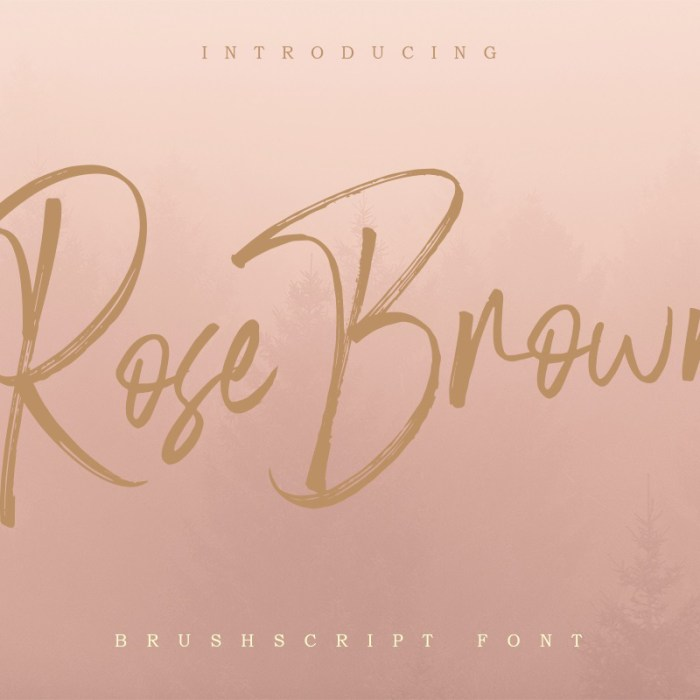 Rose Brown Brush Script