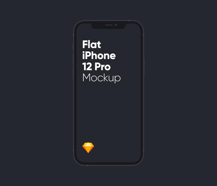 Flat iPhone 12 Pro Mockup